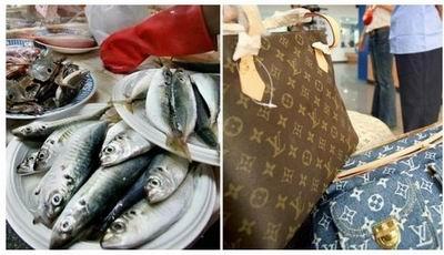 论引领潮流我就服中国大妈!奶奶用LV包装鱼 网友调侃:果然是国际精品 能上刀山下油锅